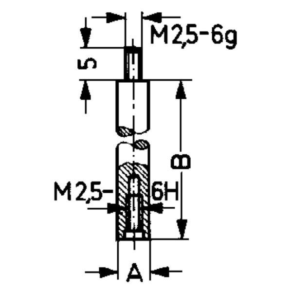 Palpator TIP D - 30 pentru Comparator