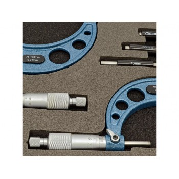 Set 4 micrometre mecanice gama eXpert 0-100 mm