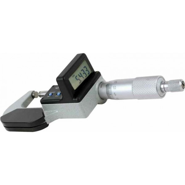 Micrometru digital 0 - 25 mm cu ecran rabatat si protectie IP65