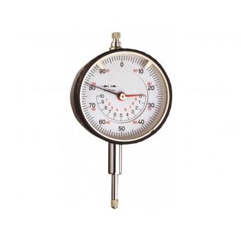 Ceas comparator mecanic 10 mm cu 2 ace si totalizator pe demi cadranul central