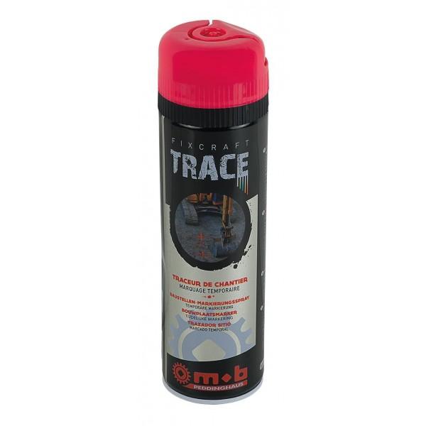 Spray rosu pentru trasaje si marcaje temporare in constructii