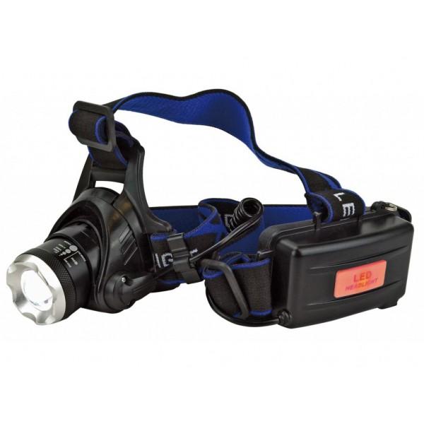 Lampa frontala LED IP44 cu Zoom si acumulator