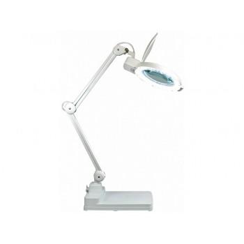 Lampa cu lupa 5 dioptrii 80 LED-uri brate articulate si baza solida