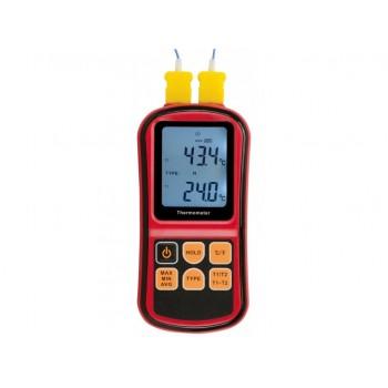 Termometru termocuplu cu 1 sonda tip K si 1 sonda rigida