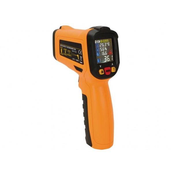 Termometru fara contact cu infrarosu si raza laser de la -50 la +800°C