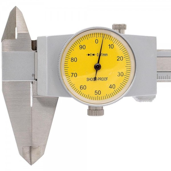 Subler cu cadran 1 mm pe rotatie domeniu 0-200mm citire 0.01mm