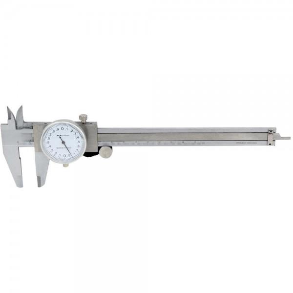Subler cu cadran 2 mm pe rotatie domeniu 0-200mm citire 0.02mm